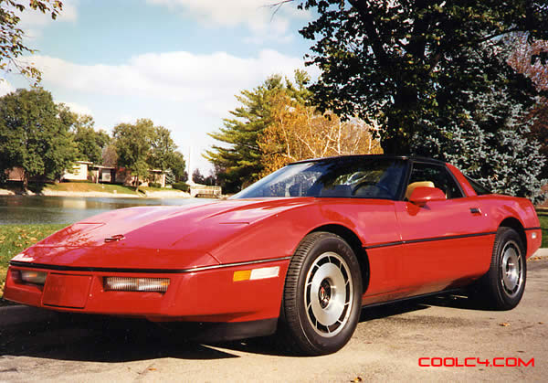 1984 C4 Red Chevrolet Corvette