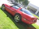1988 C4 Red Chevy Corvette Coupe, red interior