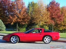 1993 Chevrolet Corvette Red coupe with nice white ZR1 wheels, very clean fine example of Americas number 1 sports car.