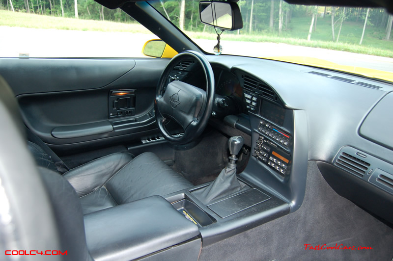 1994 Competition yellow Corvette interior
