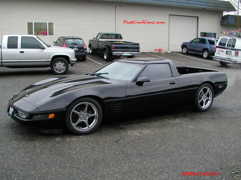 I beleive it was a 1991 Corvette that obviously was converted into a vette pick-up.