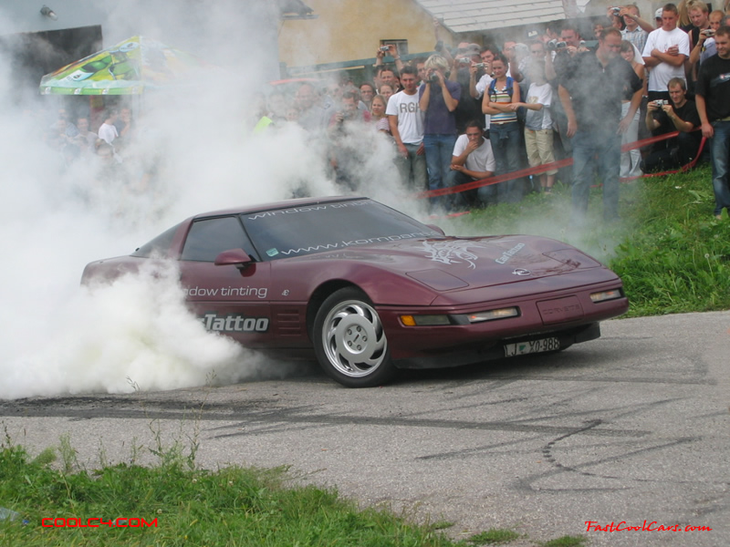 C4 Corvette in burnout contest